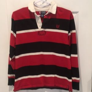 Boy's Chaps red,black,& white rugby shirt, size 10